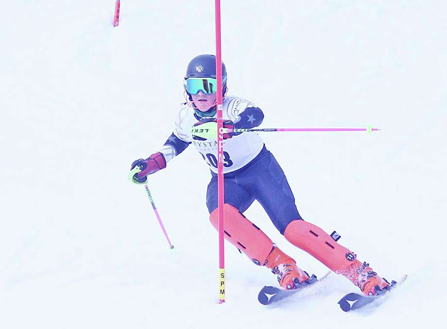 Onekama's Kylar Thomas placed 24th in the slalom and 38th in the giant slalom on Monday in the Division 2 state finals at Harbor Springs. (News Advocate file photo)