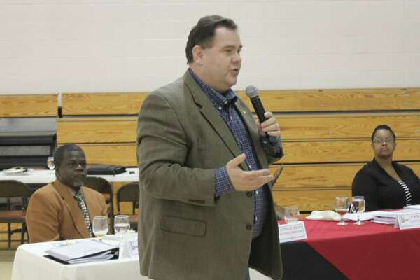 Jasper County Judge Mark Allen expresses how his county as well as San Jacinto County and Sabine County simply wish to have their fair share of the distributed funds to improve their respective infrastructures in the wake of the damage from Hurricane Ike.