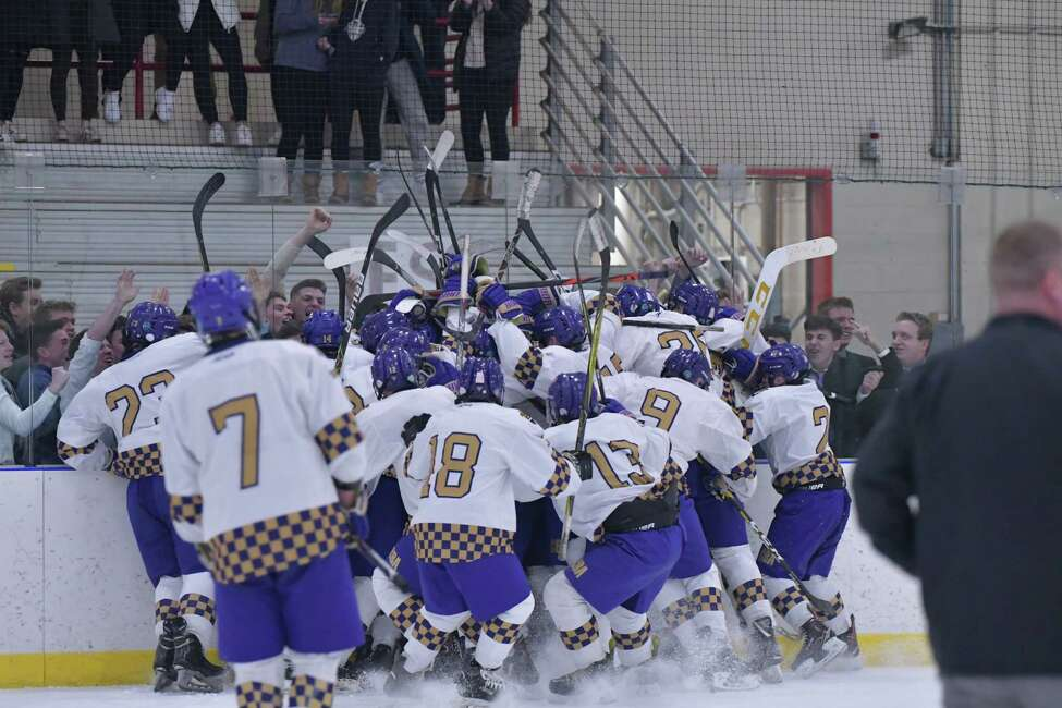 CBA players and fans celebrated a Senior Night victory over La Salle, and hope they have more to celebrate Saturday when the Brothers meet Saratoga in the Section II Division I semifinals. (Courtesy of Loni Herman)