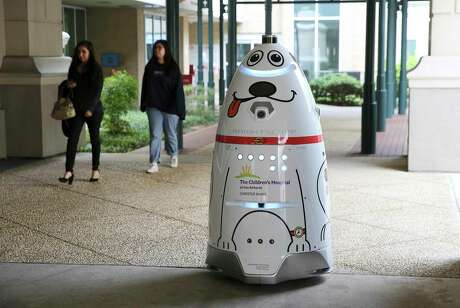 A robot named Lightning Willie is demonstrated patrolling the Children's Hospital of San Antonio Monday. The hospital has two new autonomous security robots that roam the grounds providing live surveillance for the human security officers. The robots also serve as greeters with pre-recorded audio to greet people as they approach the hospital entrances.