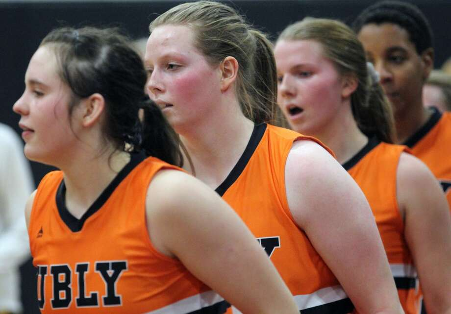 The Ubly girls basketball team improved to 18-1 on the season with a 58-32 home win over Bad Axe on Monday night. The Ubly girls basketball team improved to 18-1 on the season with a 58-32 home win over Bad Axe on Monday night. Photo: Mark Birdsall/Huron Daily Tribune