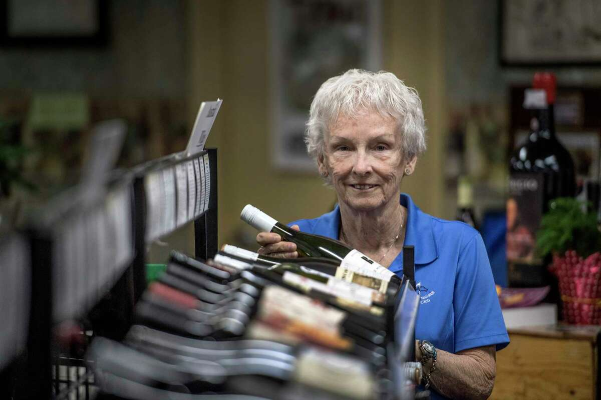 Gail Purdy Brophy at her wine and spirits store Purdy's Friday May 25, 2018 in Saratoga Springs, N.Y. (Skip Dickstein/Times Union)