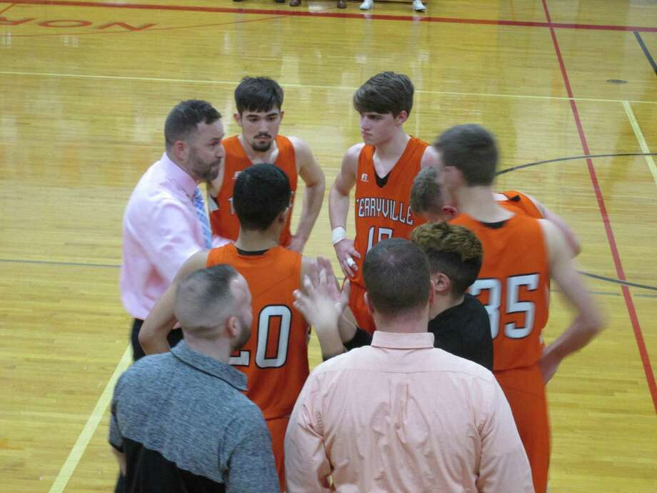 Quickness and teamwork vaulted Terryville into the Berkshire League Tournament's No. 3 seed in a win over Northwestern at Northwestern High School Monday night. Photo: Peter Wallace / Hearst Connecticut Media
