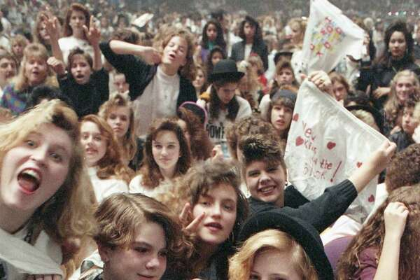 Fans of New Kids on the Block at the Summit, Feb. 10, 1990.