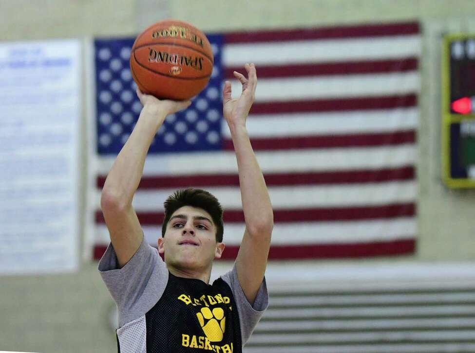 Ballston Spa basketball player Keegan Zoller is seen during practice on Monday, Feb. 24, 2020 in Ballston Spa, N.Y. (Lori Van Buren/Times Union)
