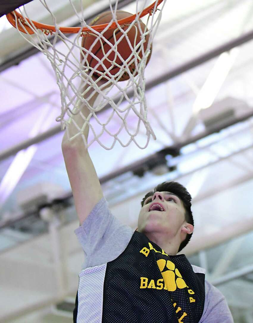 Ballston Spa basketball player Keegan Zoller is seen during practice on Monday, Feb. 24, 2020 in Ballston Spa, N.Y. (Lori Van Buren/Times Union)