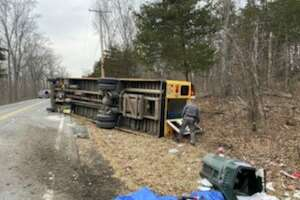 Four children and a bus driver were injured when a school bus rolled Tuesday morning, Feb. 25, 2020, in the Columbia County community of Germantown.
