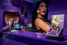 CORPUS CHRISTI, TX - SEPTEMBER 30: A kiosk at the MAC Selena World Premiere on September 30, 2016 in Corpus Christi, Texas. (Photo by Matt Petit/Getty Images for MAC Cosmetics )