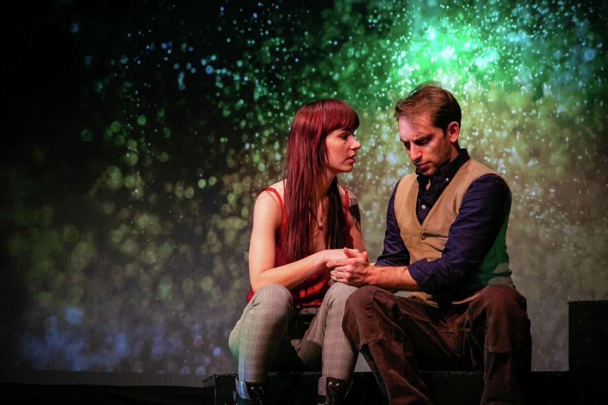 Heather Haneman and Matthew Benjamin Horowitz in TheatreWorks New Milford's production of