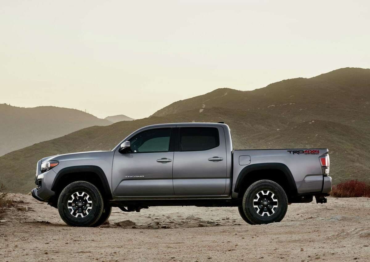 The base Tacoma SR, priced at $26,050, has rear-wheel drive, a 159-horsepower inline 4-cylinder engine, and seating for four.