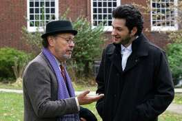 "Billy Crystal and Ben Schwartz star in ""Standing Up, Falling Down."""