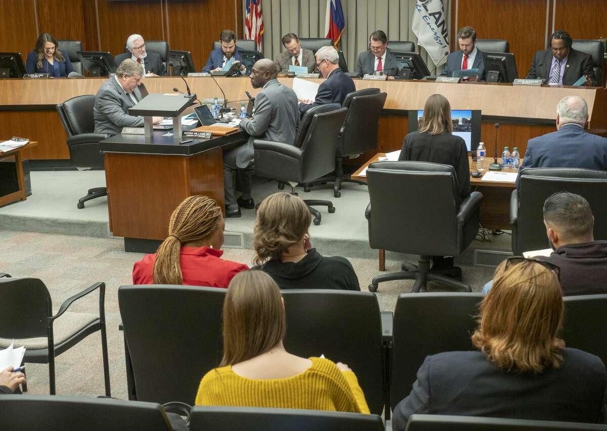 Midland City Council seats a full council with Lori Blong, Michael Trost, Spencer Robnet, Mayor Patrick Payton, Scott Dufford, Jack Ladd and John Norman . Tim Fischer/Reporter-Telegram
