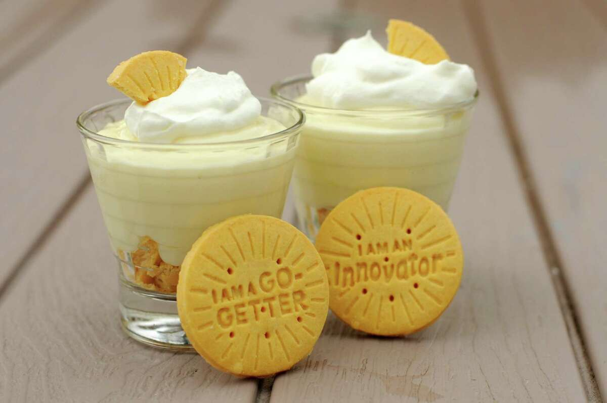 Lemon Pudding with Lemonades Girl Scout Cookies