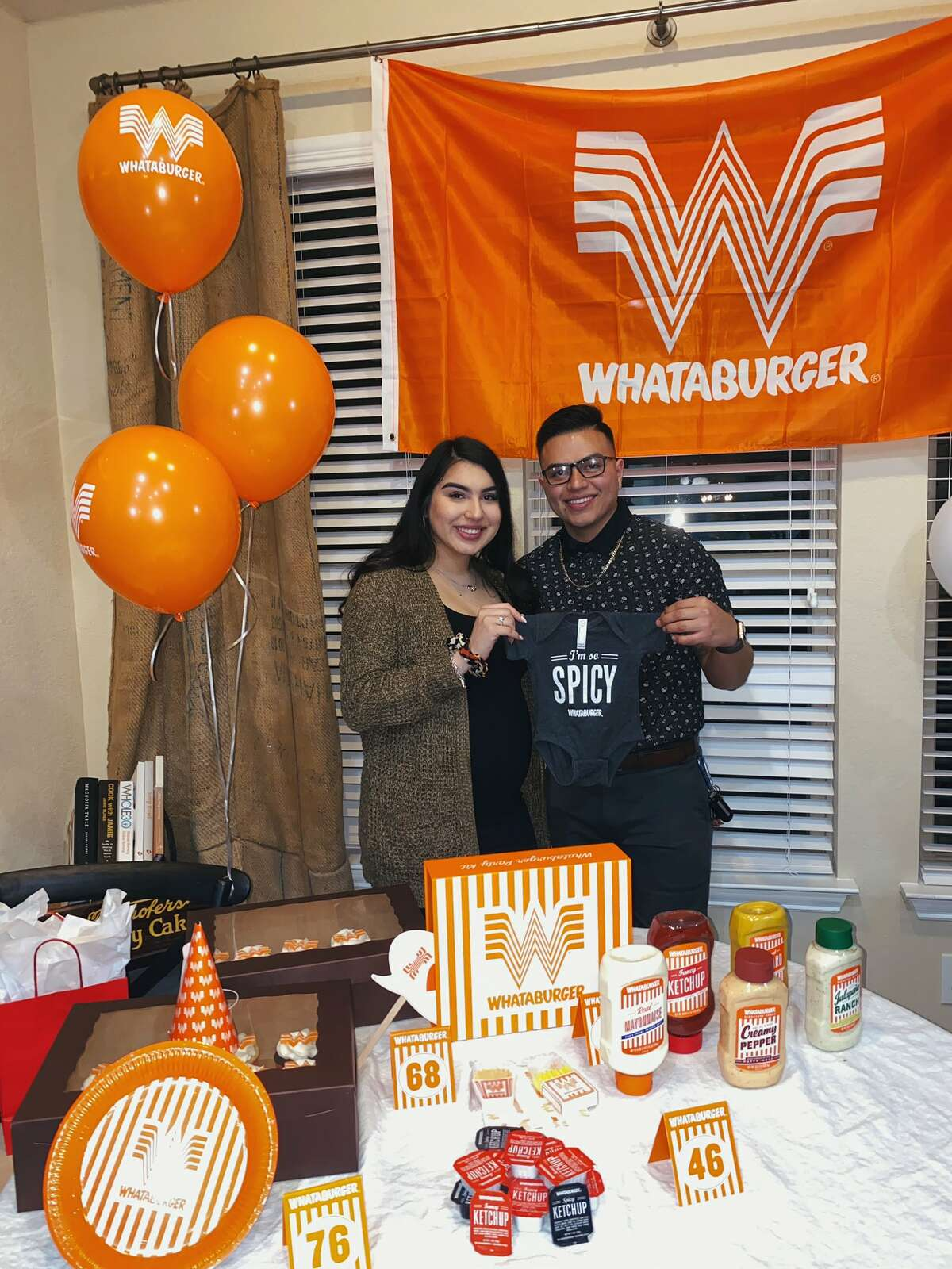 San Antonio couple Izzy Castro and Daniel Castilleja decided to throw a gender reveal party around what their baby loves to eat: Whataburger.