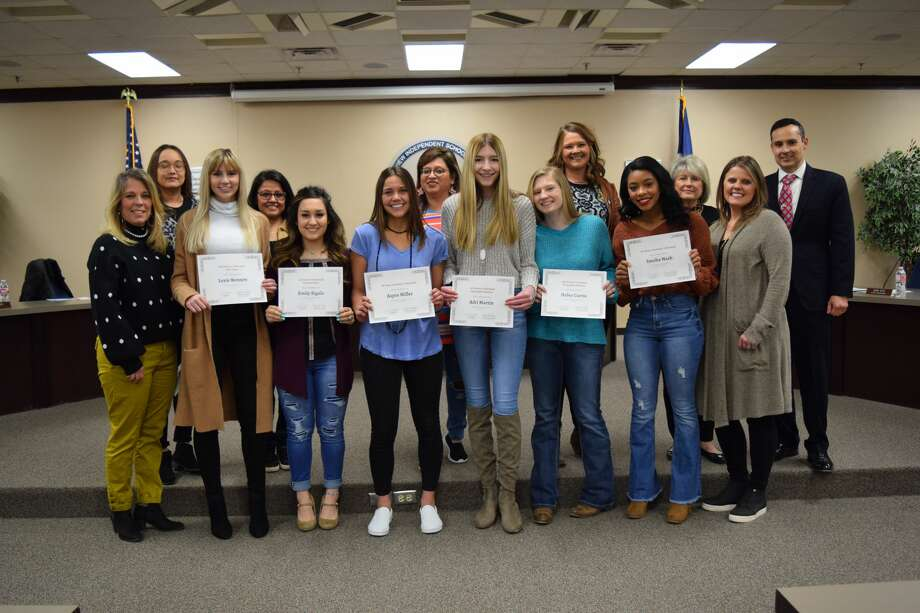 Members of the Plainview volleyball team were recognized for Academic All-State and All-District accolades. Photo: Ellysa Harris/Plainview Herald