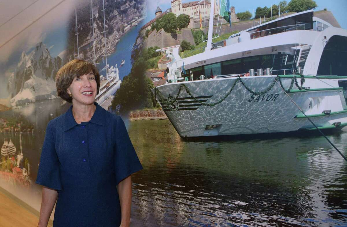 Jennifer Tombaugh, president of Tauck Discovery Tours, operators of luxury travel tours, at their headquarters in Wilton, Conn.