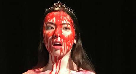 "The North East School of the Arts staging of ""Carrie the Musical"" stars Claire McGinlay in the title role. The show will include video shot by the school's cinema department, including images of Carrie after a bucket of blood is dumped on her at the prom."
