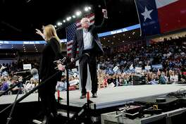 Democratic primary presidential candidate Bernie Sanders and his wife, Jane, at a recent rally in Houston. Don't discount his candidacy. There is a yearning for real change in this country.