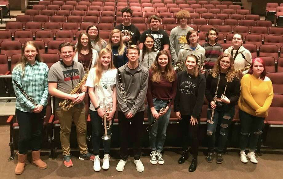 Members of the Manistee High School Band recently competed in the solo and ensemble competition at Cadillac High School. (Courtesy photo)