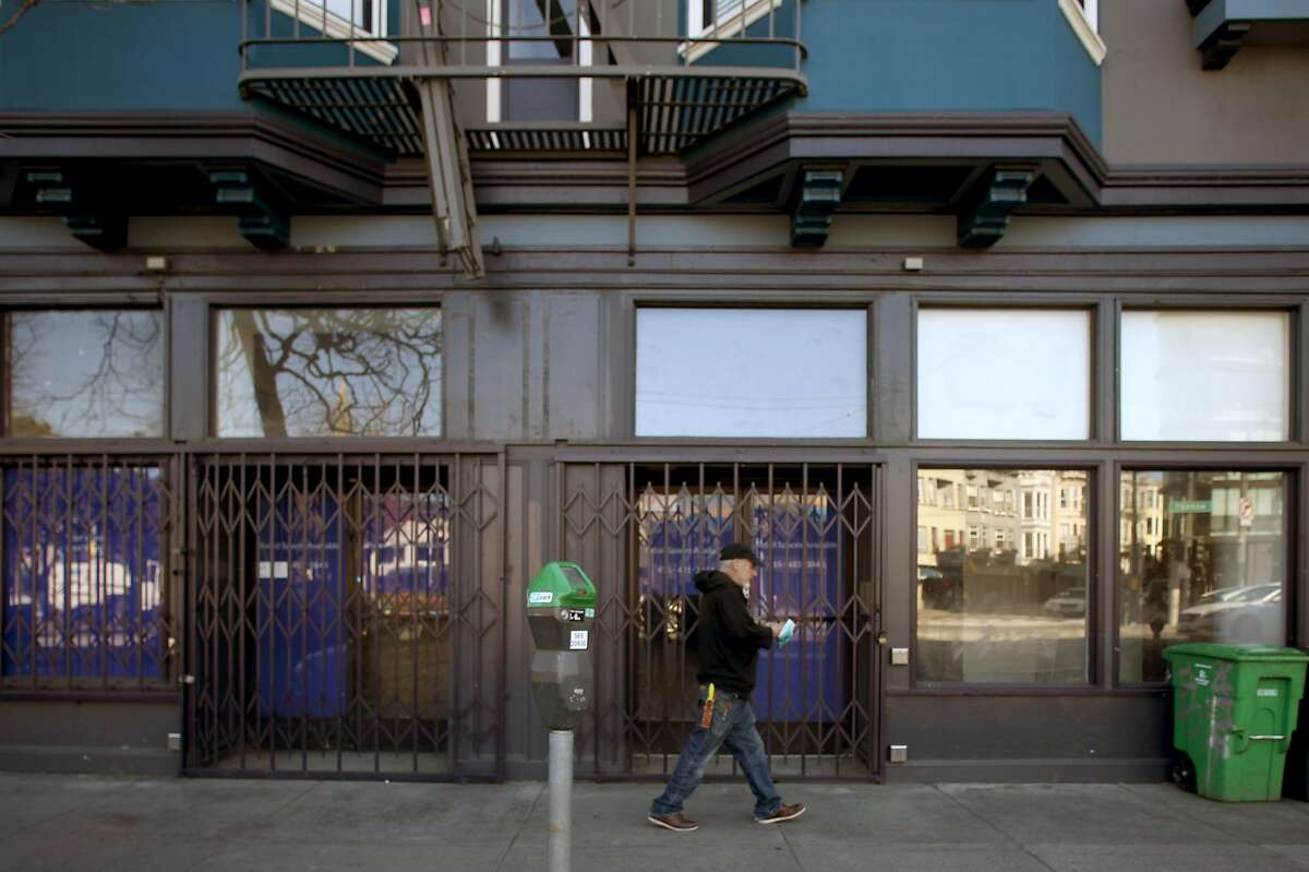 Storefronts for lease seen between 2079 Market St. to 2095 Market St. seen on Friday, Feb. 21, 2020, in San Francisco, Calif.