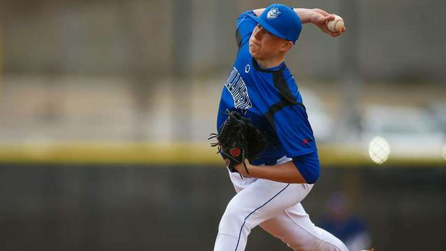SLU right-handed pitcher Matt Boyer delivers an offering during his first collegiate start. Photo: SLU Athletics