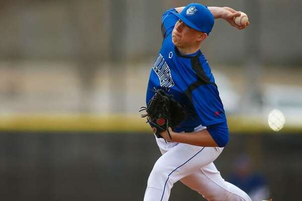 SLU right-handed pitcher Matt Boyer delivers an offering during his first collegiate start.