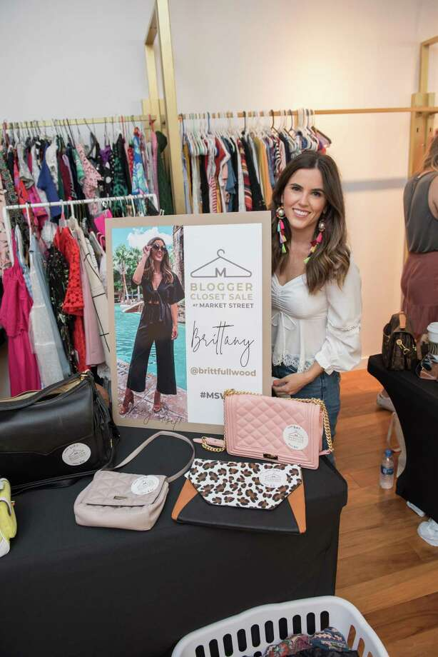 """The annual Blogger Closet Sale is scheduled from 10 a.m. until 6 p.m., Saturday, February 29, at Market Street in The Woodlands. Gently worn clothing and other items will be on sale at discounted prices from six local """"fashion influencers"""" who will be on hand. Here, one of the 'influencers,' Brittany Fullwood, shows off some of the clothes she'll have on sale. Photo: Image Courtesy Market Street / Image Courtesy Market Street"""