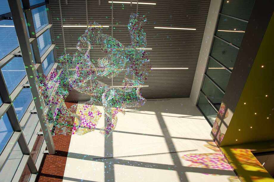 """Bridgeport's Housatonic Community College is hosting a dedication and reception to celebrate the installation of a new site-specific artwork by artist Soo Sunny Park called """"Flight of Luminescence"""" on March 4. Photo: Paul Mutino / Contributed Photo"""