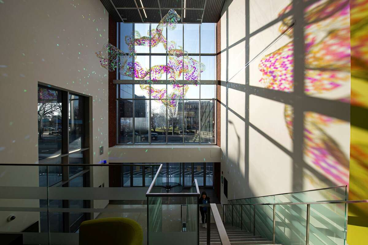 Bridgeport's Housatonic Community College is hosting a dedication and reception to celebrate the installation of a new site-specific artwork by artist Soo Sunny Park called