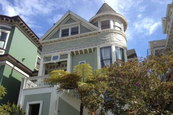 This two bedroom in an Alamo Square 1876 Victorian is for rent.
