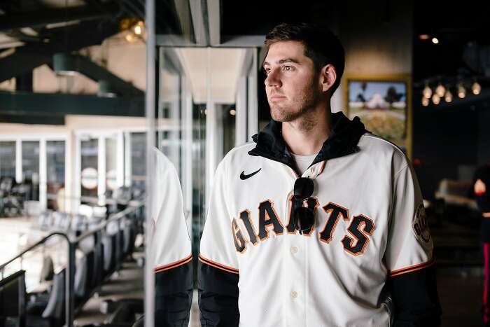 The Giant's Kevin Gausman stands for portrait during the San Francisco Giants Fan Fest event at Oracle Park in San Francisco, California, U.S., on Saturday, Feb. 8, 2020.