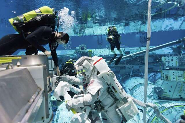 Pictured is NASA's Neutral Buoyancy Laboratory on Tuesday, Feb. 25, 2020. The Neutral Buoyancy Laboratory is used by astronauts to practice spacewalks.