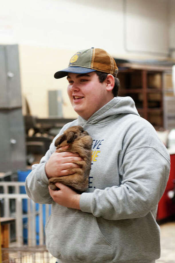 Preschoolers from surrounding areas visited Jacksonville High School Tuesday. The petting zoo was put on by the JHS' FFA Jacksonville. Photo: Darren Iozia | Journal-Courier
