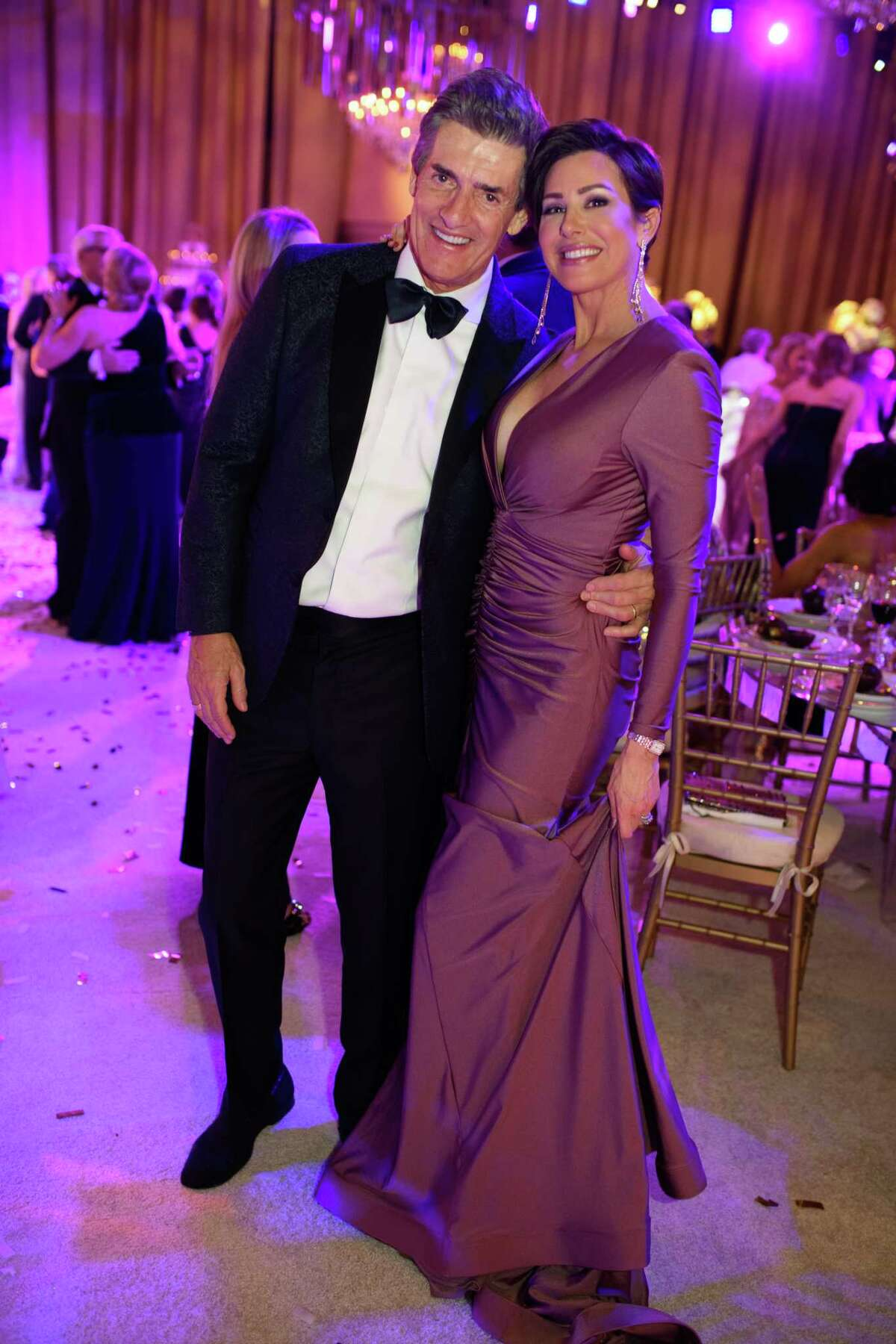 Nick Florescu and Dominique Sachse at the 50th anniversary Ballet Ball at The Wortham Theater Center in Downtown Houston, TX on Saturday, February 22, 2020