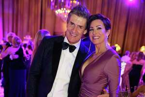 Nick and Dominique Florescu at the 50th anniversary Ballet Ball at The Wortham Theater Center in Downtown Houston, TX on Saturday, February 22, 2020