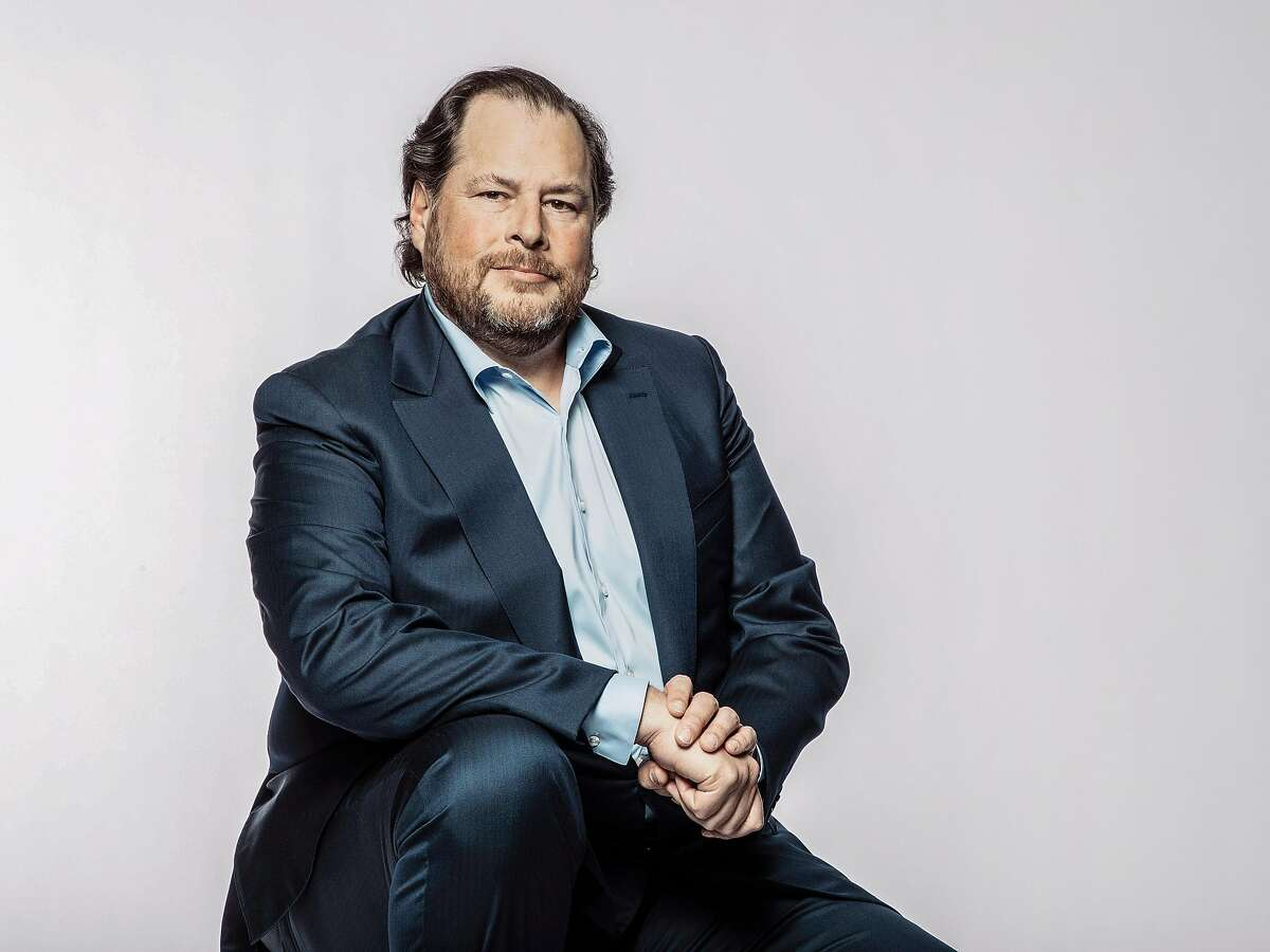 FILE -- Marc Benioff, chairman of Salesforce and an environmental philanthropist, in San Francisco on April 2, 2018. President Donald Trump has embraced Benioff�s Trillion Trees climate initiative. (Matt Edge/The New York Times)