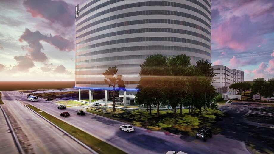 Hicks Ventures and Taconic Capital Advisors will add an LED strip of light at the 1177 West Loop South office building. Photo: Hicks Ventures