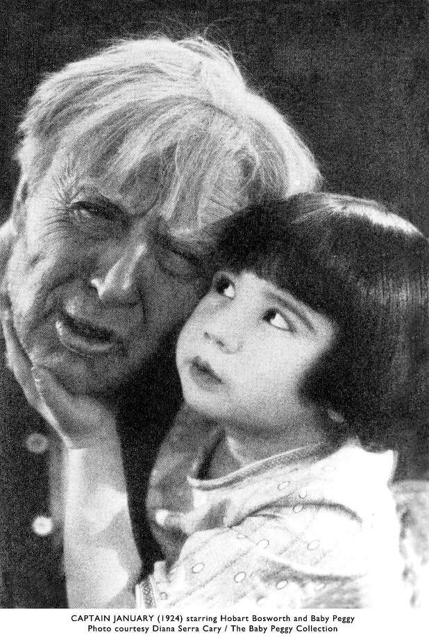 "Baby Peggy with Hobart Bosworth in ""Captain January"" (1924), one of her few surviving films. Photo: Courtesy Diana Serra Cary / The Baby Peggy Collection"