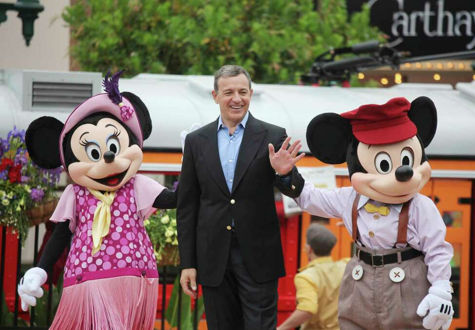 FILE -- Bob Iger, chairman and chief executive of the Walt Disney Company, at the opening ceremony of the