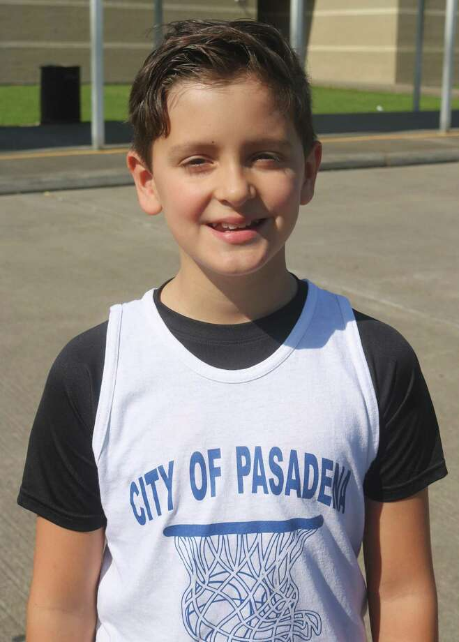 Tyson Viator and the Ballhawgs will be playing for Pasadena's Division I youth basketball city championship in the 9 and 10-year-old bracket this Saturday at 2 p.m. Photo: Robert Avery