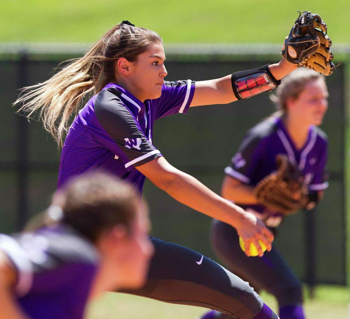 Willis starting pitcher Ashley Vallejo (2), shown here last season, struck out 23 New Caney batters in a 12 inning game on Tuesday.