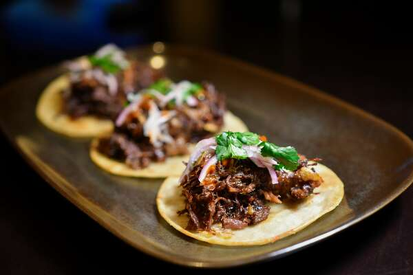 Oak Smoked Barbacoa Tacos at Revolve Kitchen + Bar
