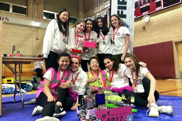 The Greenwich Academy high school robotics team won the CT State robotics championship over the weekend.