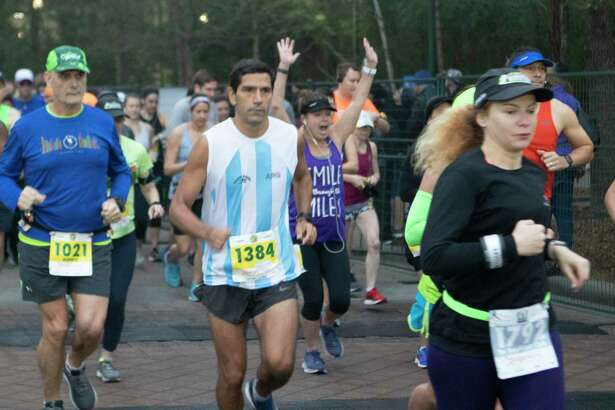 Runners take off from the start of the full marathon during The Woodlands Marathon in 2019. The Fidelty Investments The Woodlands Marathon, The Houston Methodist The Woodlands Half-marathon and The Woodlands Marathon relay are all scheduled for Saturday, March 7, 2020, with the races beginning at 7 a.m. at Town Green Park at the Waterway Trolley Path, located at 2099 Lake Robbins Drive, The Woodlands.