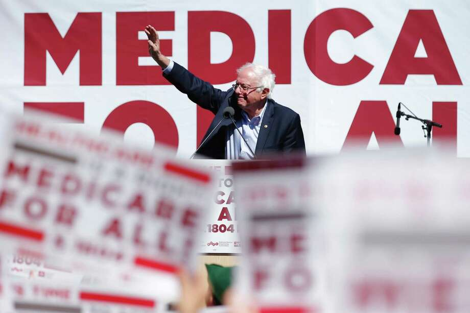 Sen. Bernie Sanders, I-Vt., during a nurses convention rally at Yerba Buena Gardens on Friday, Sept. 22, 2017, in San Francisco, Calif. Sanders promoted his Medicare for All 2017 plan. Photo: Santiago Mejia / The Chronicle / ONLINE_YES
