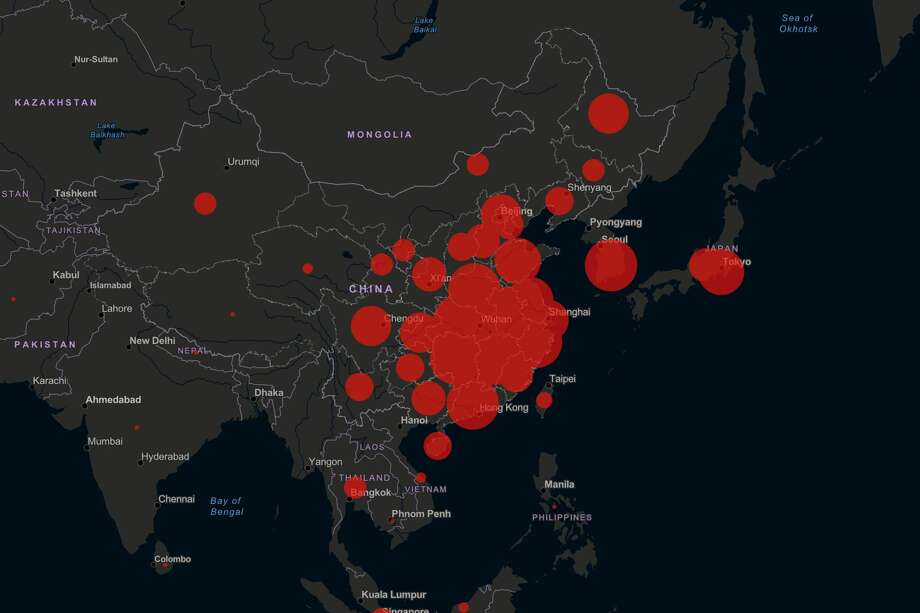 78,064 Mainland China Updated: February 26, 2020 Photo: Johns Hopkins Mapping 2019-nCoV