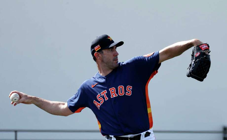 Houston Astros pitcher Justin Verlander (35) during the Houston Astros spring training workouts at the Fitteam Ballpark of The Palm Beaches, in West Palm Beach , Tuesday, Feb. 18, 2020. Photo: Karen Warren, Staff Photographer / © 2020 Houston Chronicle