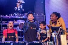 """Young chefs in the cast take on challenges (and emote) during """"MasterChef Jr. Live!"""""""