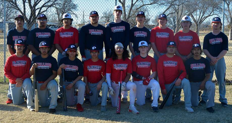 The 2020 Plainview High School baseball team roster includes, from left, in front, Isaac Garza, Justin Dominguez, Devin Rogers, Lorenzo Vasquez, Triston Flores, Austin Hauk, Austin Pineda and Sebastian Alcala; in back, Zach Hernandez, Jason Dominguez, Tyler Rodriguez, Charles Gipson, Caleb Lusk, Will Rossi, Kole Mayberry and Kyler Blankenship. Photo: Nathan Giese/Planview Herald