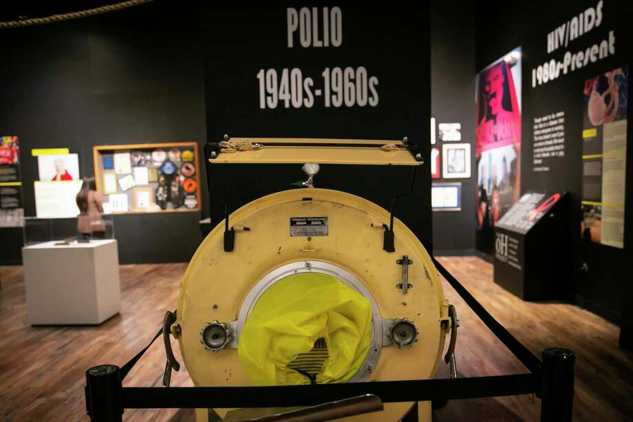 An iron lung is on display in the Outbreak exhibit on Tuesday, Feb. 18, 2020. Photo: Annie Mulligan, Houston Chronicle / Contributor / © 2020 Annie Mulligan / Houston Chronicle